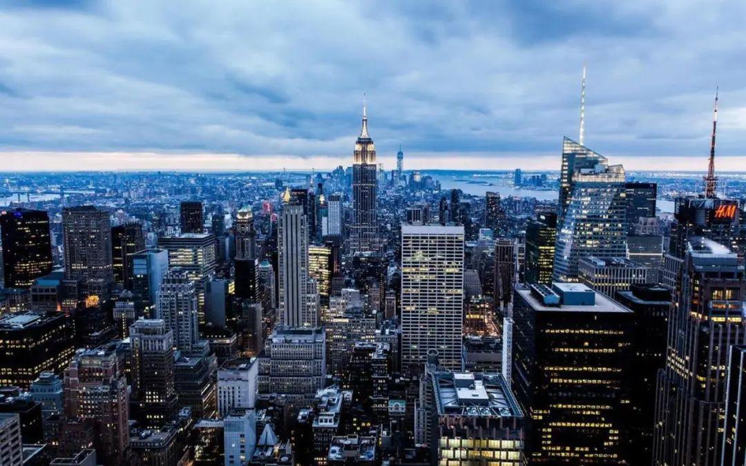 高楼大厦俯瞰图